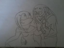 anubis and galaxia uncoloured by thepredator777