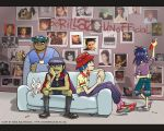 Gorillaz on the sofa by iricolor