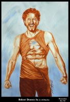 Robert Downey Jr 012 watercolor by honeylips1