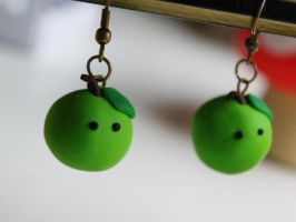 Apple Earrings by ButtonxMushroom
