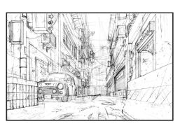 Alley Drawing by ArtByGiuseppe
