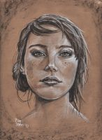 Portrait in charcoal by TimYates
