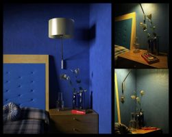 Blue bedroom by 3D-Brainx