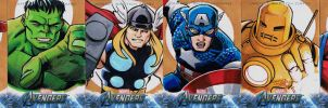 Avengers sketch cards Earths Mightiest by KidNotorious