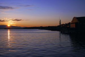 Sunset In Seattle by jaredjonhowell