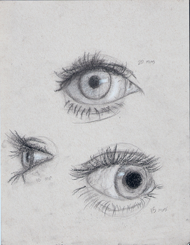 Charcoal Pencils: Eyes by SkyTheArtist