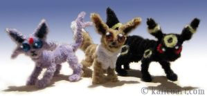 Eevee, Umbreon, and Espeon