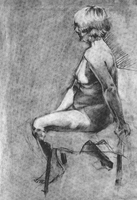 ART201 Life Drawings - 3 by dizzyclown