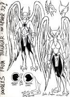 My New Hawkman and Hawkgirl Designs! by WibbitGuy