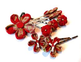 Inspired by Kanzashi by Liliana-Claire