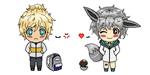 Liam and Dusty Chibis by Tryxal