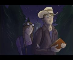 The Stranger and his daughter by Silvre