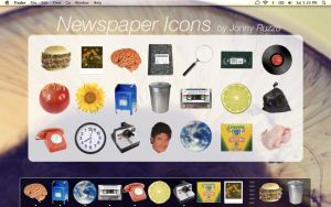Newspaper Icons by likeOMFGitsJONNY