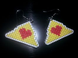 Tri-force Heart earrings by Sew-Madd
