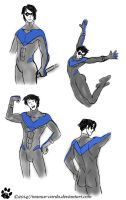 Sketch dump ::Nightwing:: by Manwe-Varda