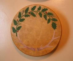 Antler and Holly Bear Drum by Lolair