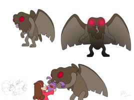 Gravity Falls - Mothman by The-Rebexorcist