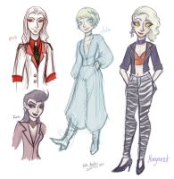 Doodles - 1990 Margaret and pals by Alias-Hugo