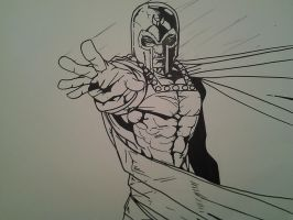 Magneto WIP 2 INKED by papabear7