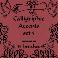 Calligriphic Accents 5 by rL-Brushes