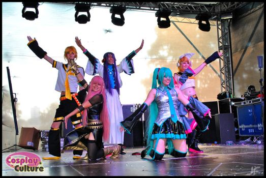 Vocaloids Performance by cosplayculture