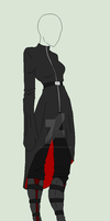 Outfit Adopt - She In The Black Coat - SOLD by ShadowInkAdopts