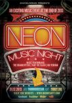 Neon Music Night Flyer by bakoeldesainkoe
