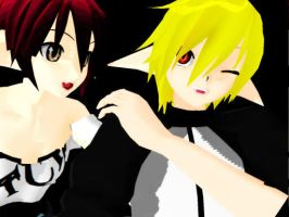 Daniel and Fang Joking [MMD] by ZeldaXLove56