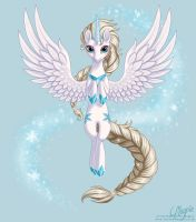 Queen Elsa the Alicorn by LaurenMagpie