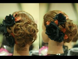Halloween Updo by DeluxeMUAH