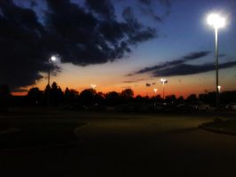 Sunset Over the Parking Lot by BlueMoodRhythm