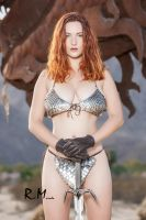 Red Sonja Cosplay Comic Style Scale maile by AngelWolf22