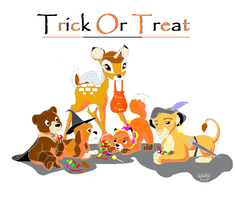 Trick or Treat  disney style by 0Ash0