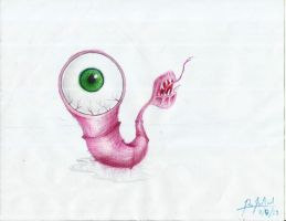Wormeye (Color Pencil) by TheR-tist