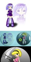 Danicka and Mandy buttons by Jdan-S