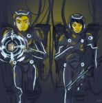 Sam and Quorra: Jaeger Pilots of the Grid by Willowwolf23