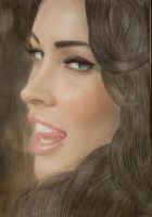 My drawing Megan Fox by Exklusivdavo