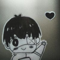 Chibi Kaneki mac sticker decal by LAAPPLEPIE