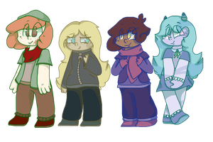Main Cast by Pearly-Skitt
