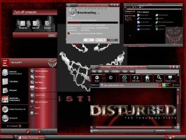Disturbed in red by infinity1019
