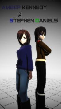 [MMD] Amber.K and Stephen.D  *NEW VERSION*.::DL::. by Laxianne