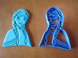 Princess Anna Cookie Cutter 01 by B2Squared
