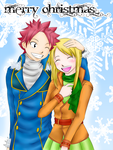 Christmas Love: Natsu and Lucy by PsychoKIRA