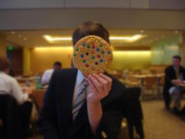 The Man w. a Cookie for a Face by ninjanamedjt