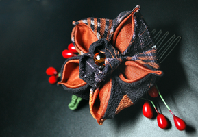 Saving Smile. Flower Kanzashi. by hanatsukuri
