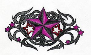 Nautical Star + Tribal Thorn 2 by AvengedDemise13363