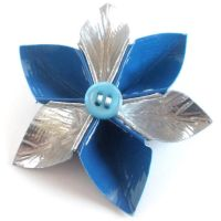 TRON Duct Tape Flower Hairpin by DuckTape-Rose