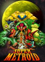 Super Metroid Poster by GuruMog