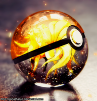 Ninetales Pokeball by Jonathanjo