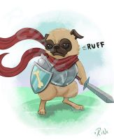 Pug Warrior by Rinexperience